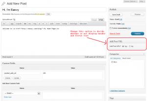 Add Post URL Option When New/Edit Post